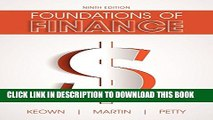 [PDF] Foundations of Finance (9th Edition) (Pearson Series in Finance) Full Online