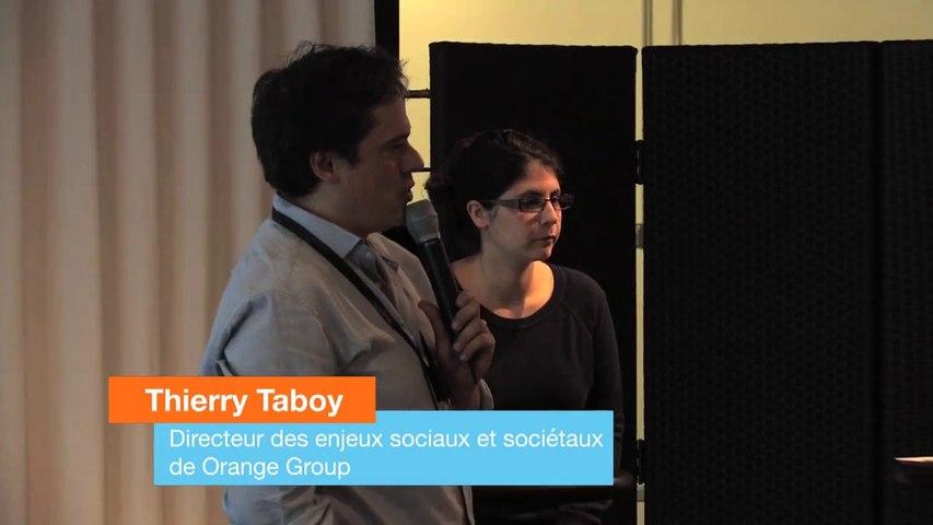 Introduction de Thierry Taboy à l'atelier du Digital Society Forum du 2 juin 2016