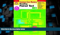 Big Deals  Reading Paired Text, Grade 6 (Reading Paired Text: Common Core Mastery)  Best Seller