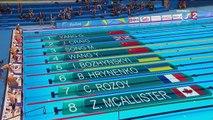 Natation - 50m nage libre (H-S8) : Charles Rozoy encore au pied du podium