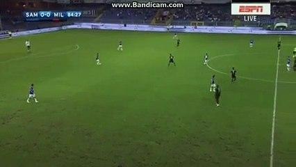 Carlos Bacca Goal ~ Sampdoria 0-1 AC Milan ~ 16/09/2016 [HD]