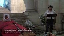 20160916-Paris-Obsèques de Jean-François Athon-02-Intervention d'Isabelle Delvallée