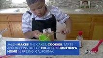 Un niño abre una pastelería para comprarle una casa a su madre