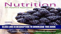 [PDF] Nutrition: An Applied Approach Plus MasteringNutrition with MyDietAnalysis with Pearson