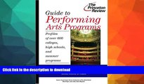 READ  Guide to Performing Arts Programs: Profiles of Over 700 Colleges, High Schools, and Summer