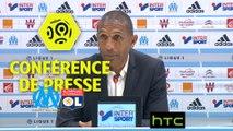 Conférence de presse Olympique de Marseille - Olympique Lyonnais (0-0) : Franck PASSI (OM) - Bruno GENESIO (OL) - 2016/2017
