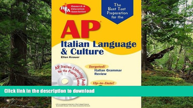 FAVORITE BOOK  AP Italian Language and Culture w/ Audio CDs (Advanced Placement (AP) Test