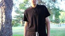 Mens black monochromatic grunge summer lookbook // Mens style \\ Mens fashion // Aleks Gamzin