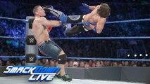 John Cena and Dean Ambrose vs AJ Styles and The Miz WWE SmackDown Live 13 september 2016 | Full Match