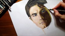 Speed Drawing of Superman How to Draw Time Lapse Art Video Colored Pencil Illustration Artwork Draw Realism