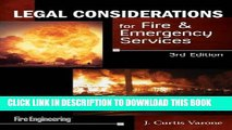 Collection Book Legal Considerations for Fire   Emergency Services