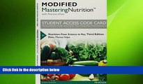 there is  Modified MasteringNutrition with MyDietAnalysis with Pearson eText -- Standalone Access
