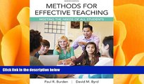 behold  Methods for Effective Teaching: Meeting the Needs of All Students, Enhanced Pearson eText