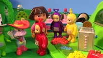 Dora The Explorer Meets The Teletubbies with Cookie Monster Chef