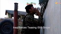 Kurdish fighters captured an ISIS sniper in Bashiqa town north Iraq