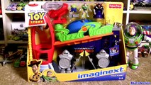 Mater Caught by The CLAW Pizza Planet Playset Toy Story Rocket Ship Emperor Zurg Buzz Lightyear