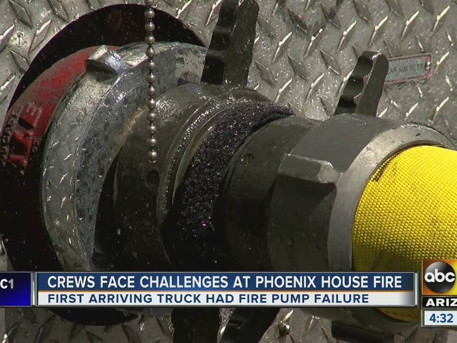 First-alarm fire reported at PHX home