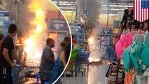 ไฟไหม้ พลุระเบิดในห้าง วอลมาร์ทเมืองฟินิกซ์กรุ่น