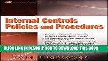 New Book Internal Controls Policies and Procedures