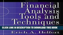Collection Book Financial Analysis Tools and Techniques: A Guide for Managers