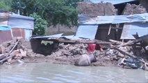 الفيضانات تشرد عشرات العائلات في إنجمينا