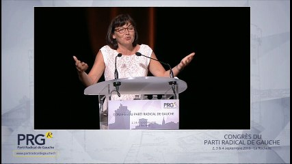 Congrès PRG 2016 - Discours d'Annick Girardin