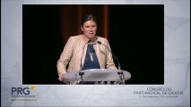 Congrès PRG 2016 - Discours de Virginie Rozière