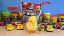 Disney Pixar Cars Unboxing New Silver Jeff Gorvette with Lightning McQueen Cars from Cars2