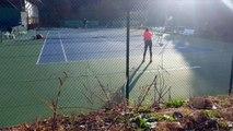 WTA - Océane Dodin à l'entrainement chez la Mouratoglou Tennis Académy avant de gagner son 1er titre WTA à Québec