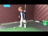 Scottish Toddler Shows Off His Golfing Ability