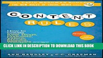 [PDF] Content Rules: How to Create Killer Blogs, Podcasts, Videos, Ebooks, Webinars (and More)