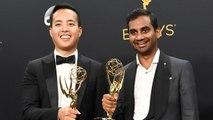 EXCLUSIVE: Aziz Ansari and Alan Yang Gush Over 'Surreal' Emmy Win