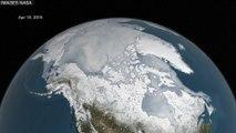 La fonte de l'Arctique filmé depuis l'espace par la NASA