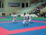 karatedo vietnam police men team kata  Unsu bunkai in Vietnam games.MOV-n01kfiZECs0
