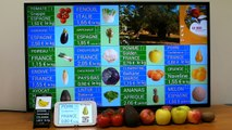 Affichage dynamique d'étiquettes prix fruits & légumes : démonstration