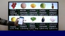 Affichage dynamique d'étiquettes prix fruits & légumes : mise à jour avec smartphone