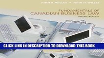 [PDF] Fundamentals of Canadian Business Law, Second Edition Full Collection