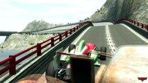 Tow Mater VS Francesco Bernoulli Disney car Pixar Stunt Speedway Park