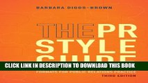 Collection Book The PR Styleguide: Formats for Public Relations Practice