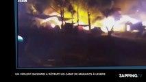 Lesbos : Un camp de migrants dévasté par un incendie volontaire (Vidéo)