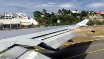 Décollage et virage très serré d'un avion Boeing 747 !
