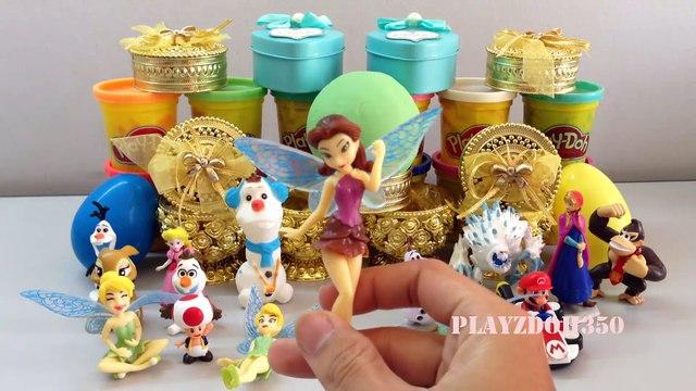 PLAY DOH SURPRISE EGGS with Surprise Toys,Egg Surprise Toys for Kids,Mario Bros,Disney,Disney Tinkerbell,Surprise Eggs