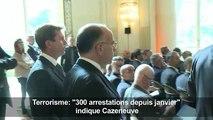 Terrorisme: «300 arrestations depuis janvier» dit Cazeneuve