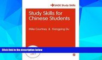 Big Deals  Study Skills for Chinese Students (SAGE Study Skills Series)  Best Seller Books Most