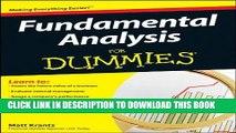 [PDF] Fundamental Analysis For Dummies Popular Online