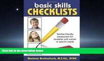 Choose Book Basic Skills Checklists: Teacher-Friendly Assessment for Students with Autism or