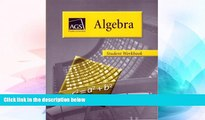 Big Deals  ALGEBRA STUDENT WORKBOOK  Best Seller Books Best Seller
