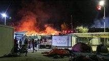 Grèce : un camp de migrants incendié à Lesbos