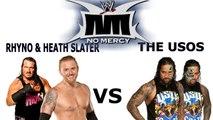 SMACKDOWN NO MERCY Rhyno & Heath Slater vs The Usos Tag Championship Match | WWE 2K16