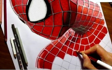Speed Drawing of The Amazing Spider-Man How to Draw Time Lapse Art Video Colored Pencil Illustration Artwork Realism